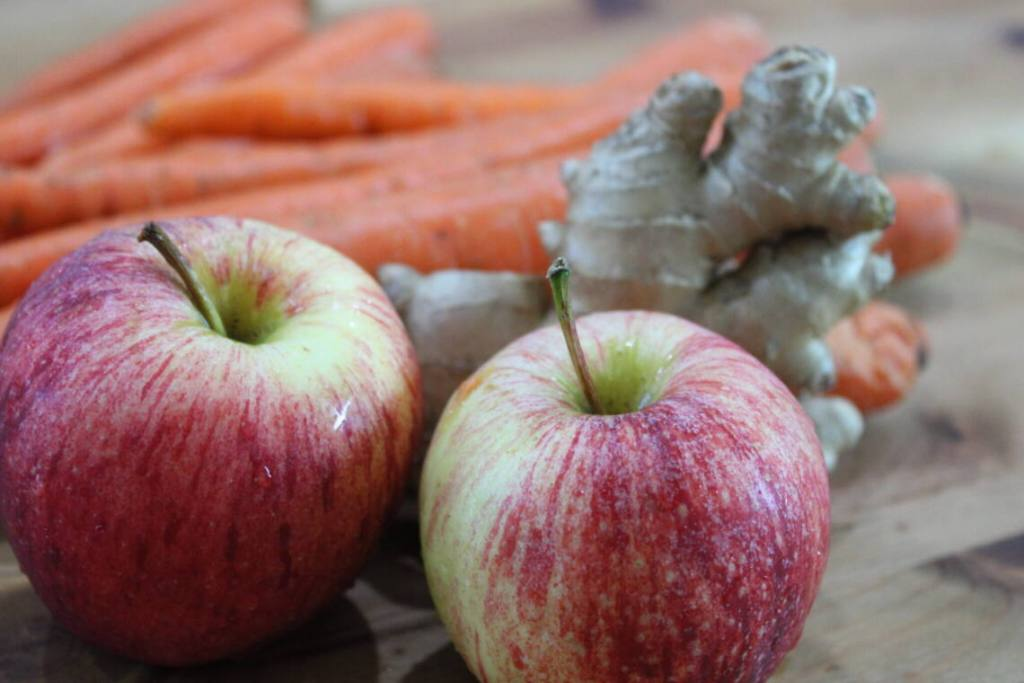 carrot apple ginger for juice