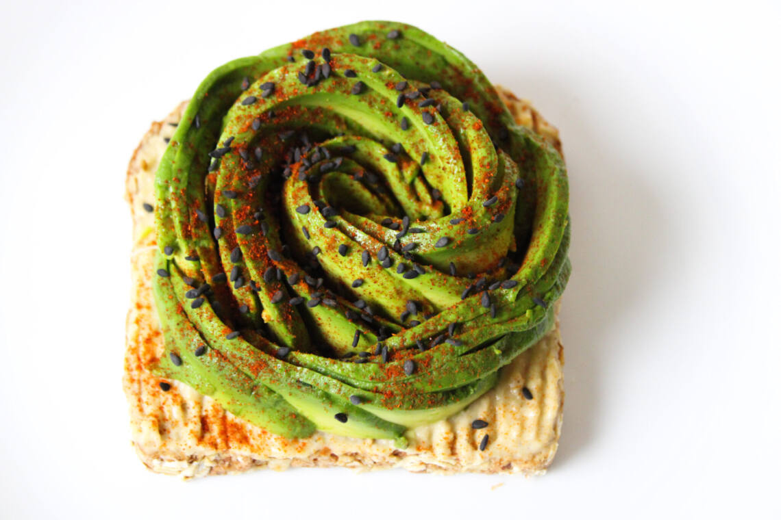 Avocado Rose on Toast
