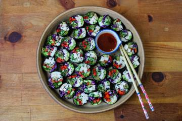 Tofu Sushi Rolls with Sweet Chili